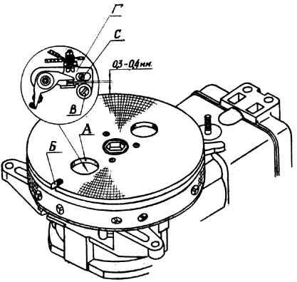Мотор Вихрь - регулировка зазоров прерывателей магнето