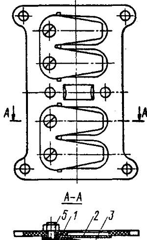 Перегородка в сборе с пластинчатыми клапанами