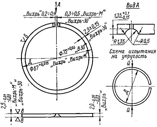 Поршневое кольцо двигателей Вихрь