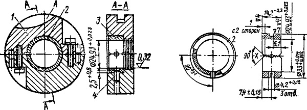 Средняя опора коленчатого вала Ветерок