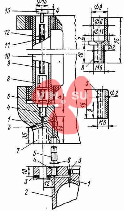 Дренаж редуктора мотора Вихрь