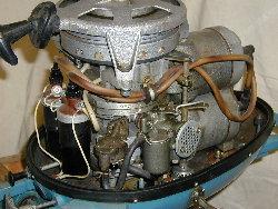 Вид сбоку мотора Вихрь 20